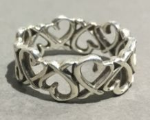 A silver hallmarked Picasso Tiffany ring