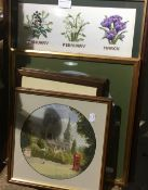 A quantity of needlework pictures