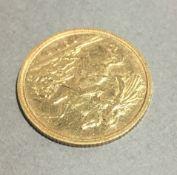 A 1908 half sovereign