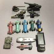 A collection of Dinky toys, etc.