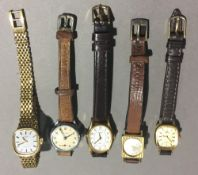 Five lady's wristwatches