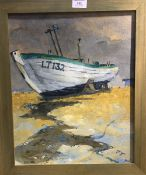 Lowestoft Trawler oil on canvas, C I BUCHANAN Rough Journey Home watercolour,
