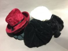 A collection of vintage ladies hats