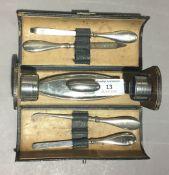 A cased vanity set