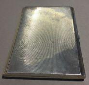 A silver cigarette case