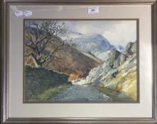 HENRY R WILKINSON (1884-1975) British, Mines Valley near Coniston, watercolour, signed,