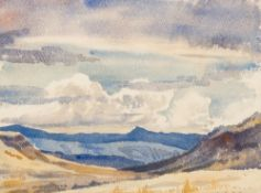 ROWENA BUSH (1917-1998) South African, Rift Valley, Watercolour,