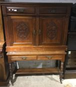 A Victorian dressing table base and a Victorian sideboard