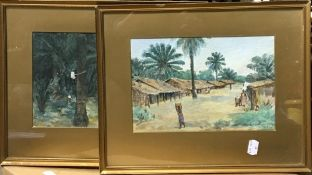 A pair of tropical watercolours,