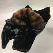 A vintage fur coat