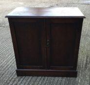 A small oak side cupboard