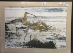 WALTER F PARKER (1914-2010) British, Curlews, print, signed and dated 1974 in pencil,