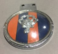 A Royal Sussex Regiment car badge