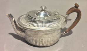 A Victorian silver bachelor's teapot, Sheffield 1895,