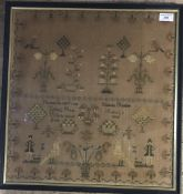 An early 19th century sampler,