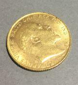 A 1906 gold sovereign