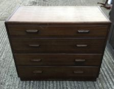 A 20th century chest of drawers