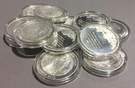 Twelve silver proof coins