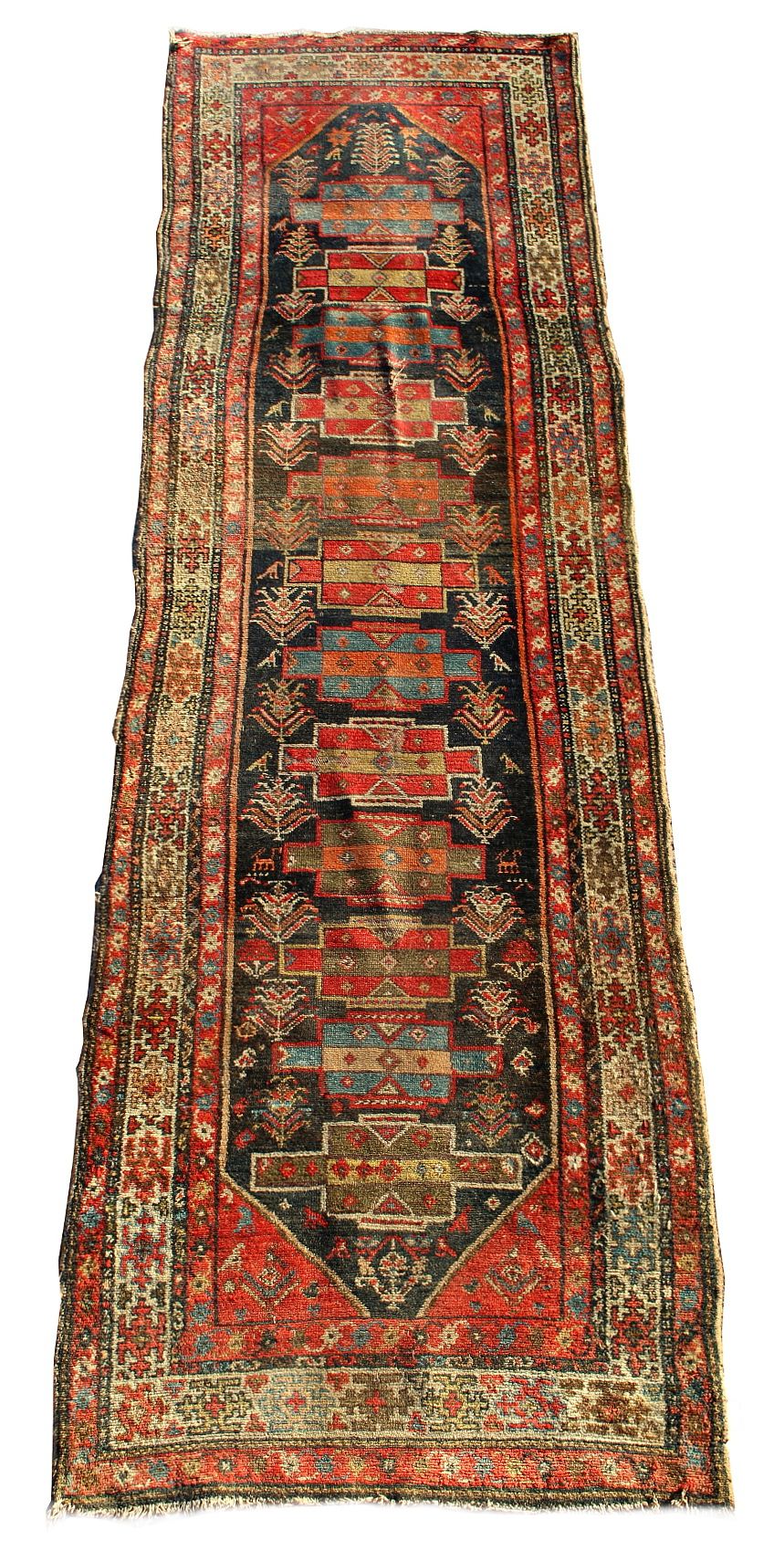 Lot 37 - Property of a gentleman - an unusual Sarab runner, early 20th century, reduced in length, 120 by