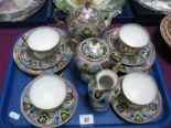 Lot 37 - Noritake Early XX Century Tea Ware, of fifteen pieces, multicoloured:- One Tray.