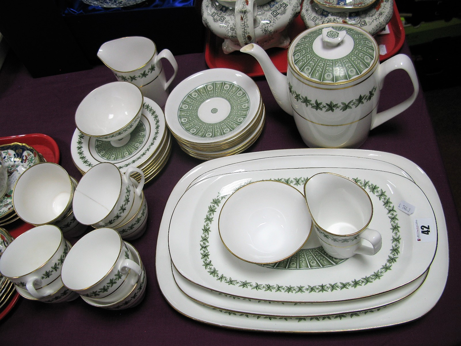 Lot 42 - A Matched Spode 'Provence' China Tea Service, with graduating meat plates, etc, (approximately