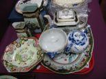 Lot 39 - Mason's Octagonal Comport, teapots, rectangular dish, etc:- One Tray