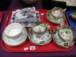 Lot 20 - A Mason's Cheese Dish and Cover, trios, etc:- One Tray