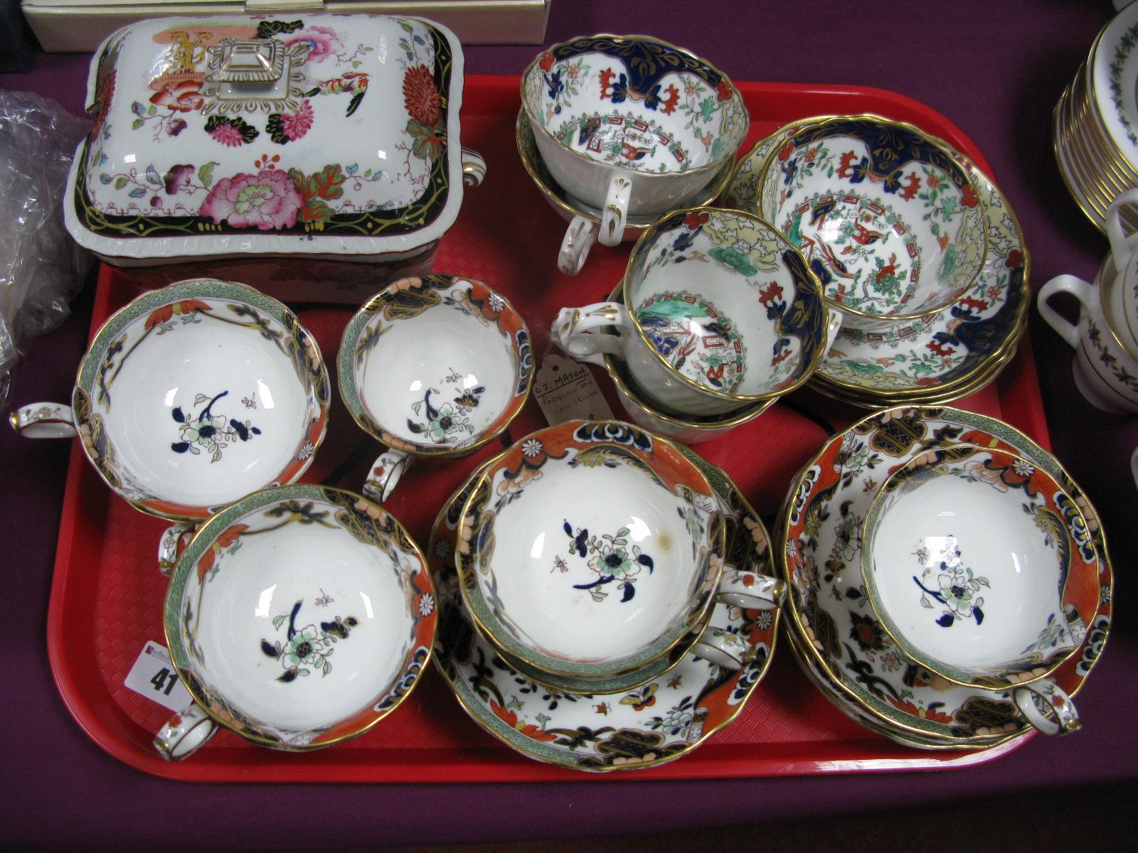 Lot 41 - Mason's Teaware, sauce tureen, etc:- One Tray