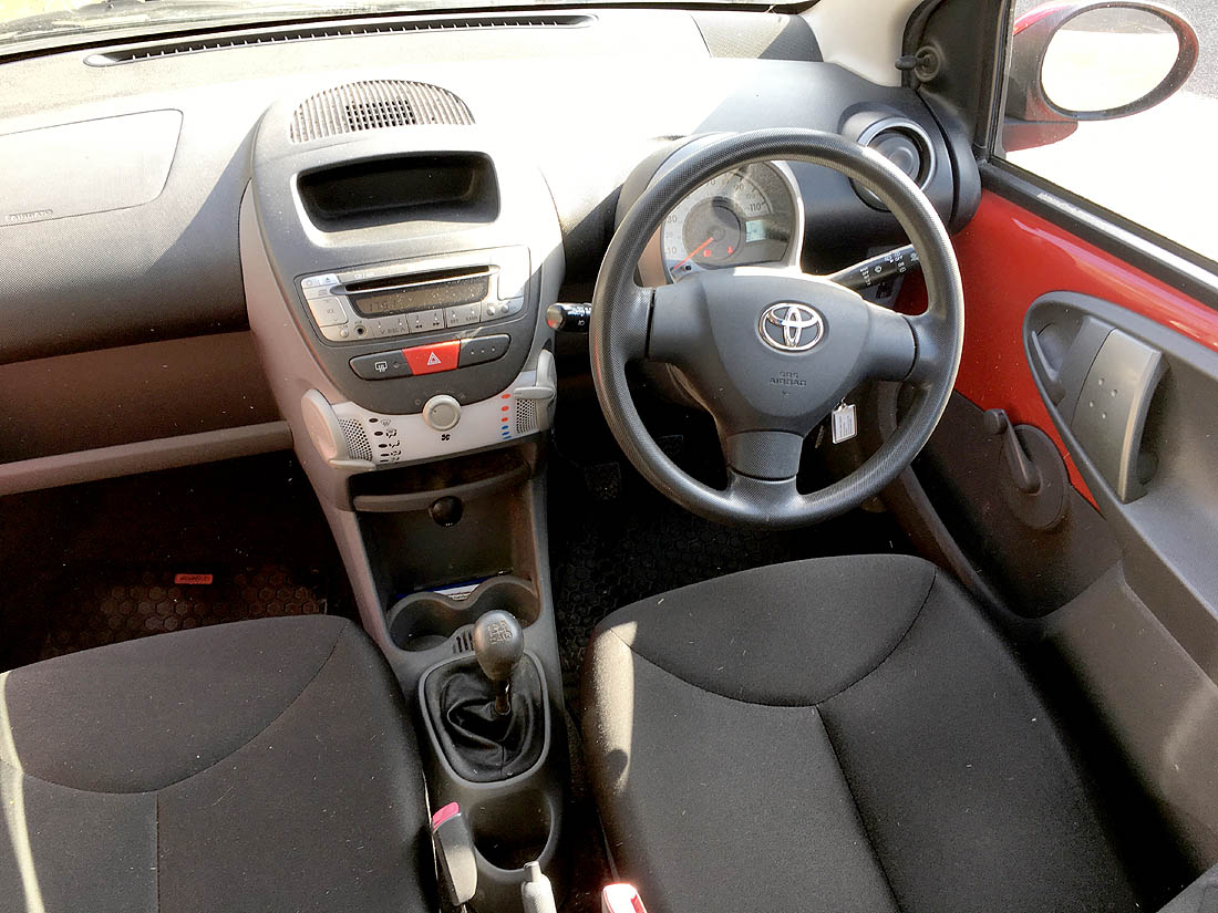 Lot 1001 - YT59 YBD (2009) Toyota Aygo 3-Door Hatchback in Red, 1.0 VVT-i Manual Gearbox Petrol with 16,288