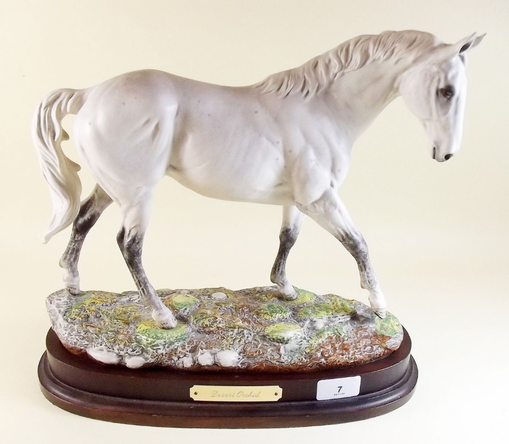 Lot 7 - A Royal Doulton limited edition Connoisseur figure of Desert Orchid No 19215 - on wooden base