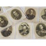 Cigarette Silks, Great War Leaders & Celebrities, Phillips complete set M3 (Captain Fyatt, General
