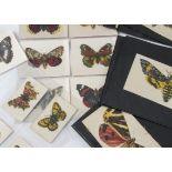 Cigarette Silks, Butterflies, Leas part sets, Butterflies & Moths (M4), (X7) and (P12)(