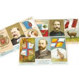 Cigarette Cards, Dukes Ruler, Coat of Arms and Flag (folders), seven folders to include Australia,
