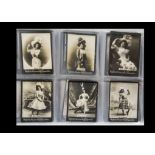 Cigarette Cards, Ogden Guinea Gold, mainly Actresses all L size, a collection of over 100, from