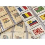 Cigarette Silks, Flags, a collection to include complete set Wix Kenista British Empire (printed
