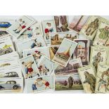 Cigarette Cards, Players, a selection of sets to name, Wrestling & Ju-Jitsu, Hidden Beauties, War