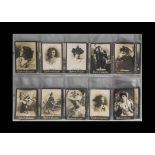 Cigarette Cards, Ogdens Guinea Gold, Actresses, a collection of approx 200 cards, various sets to