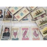 Cigarette Cards, Mixture, a variety of cards , various Manufacturers including Foreign, all in loose