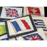 Cigarette Silks, Flags, Phillips Flags, BDV and Anon (larger sizes) National Flags, (66 in total,
