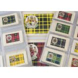 Cigarette Silks, Phillips Clan Tartans, a selection of part sets to include BDV 1-65 (missing 34, 40
