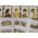 Cigarette Cards, Players, a collection of part sets to include Gallery of Beauty Series (18), Cities