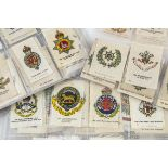 Cigarette Silks, Military, mainly Phillips Crests and Badges of the British Army (mixed sizes and