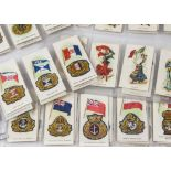 Foreign Cigarette Cards, Mixture, Players Overseas Ships Flags & Cap Badges together with
