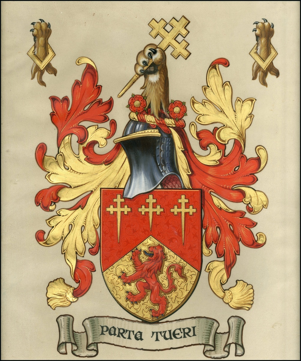Lot 3094 - Autographs Grant of Arms 1923 (18 December) a framed Grant of Arms (Patent) on vellum from Geor...