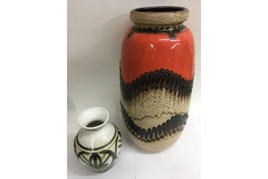 A Large West German Pottery Vase With Another By Cinque Ports