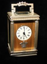Lot 17 - CHARLES FRODSHAM, A LIMITED EDITION (322/500) SILVER MINIATURE CARRIAGE CLOCK
