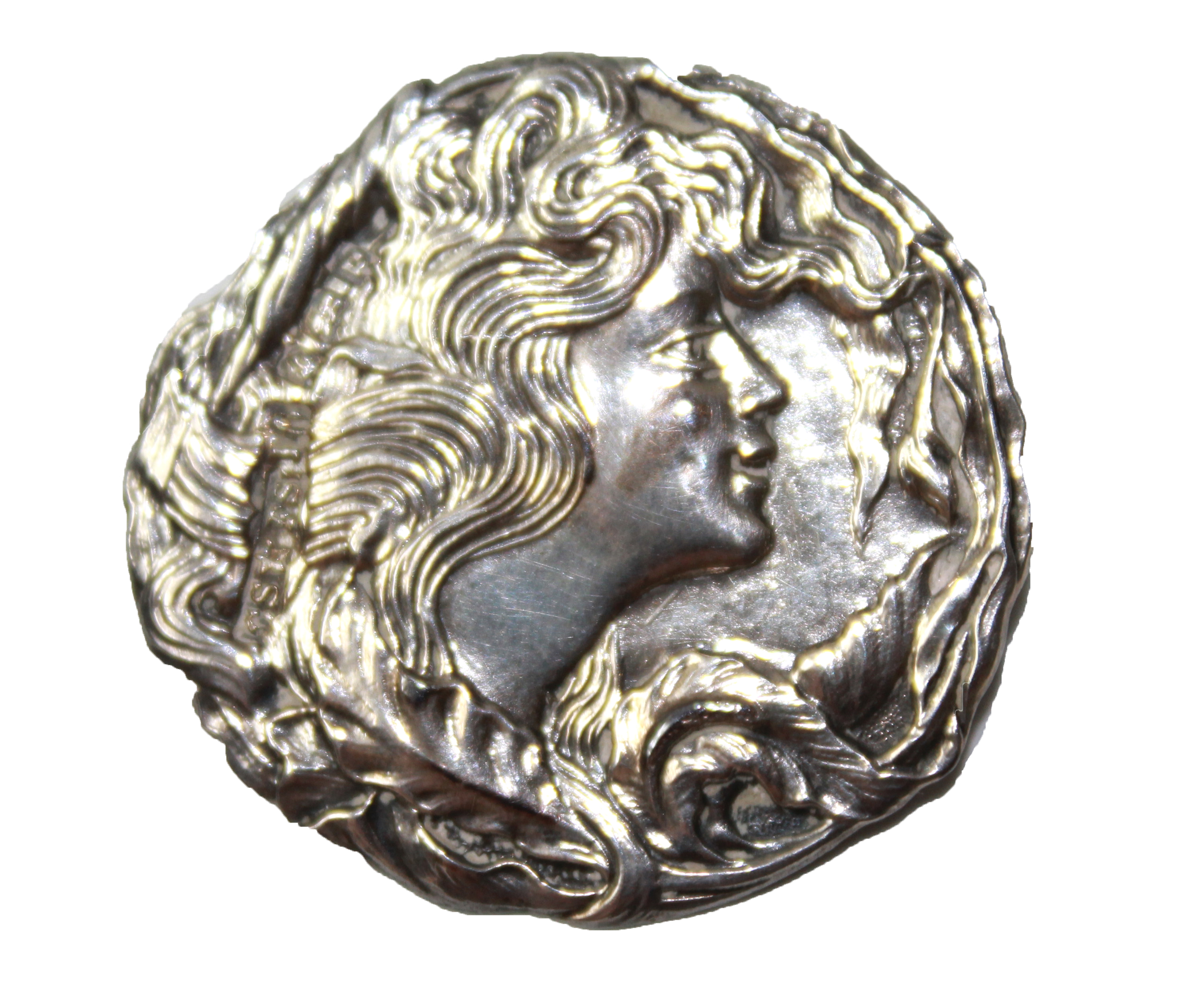 Lot 3 - A PART SET OF EARLY 20TH CENTURY SILVER BUTTONS Each having an Art Nouveau style profile portrait of