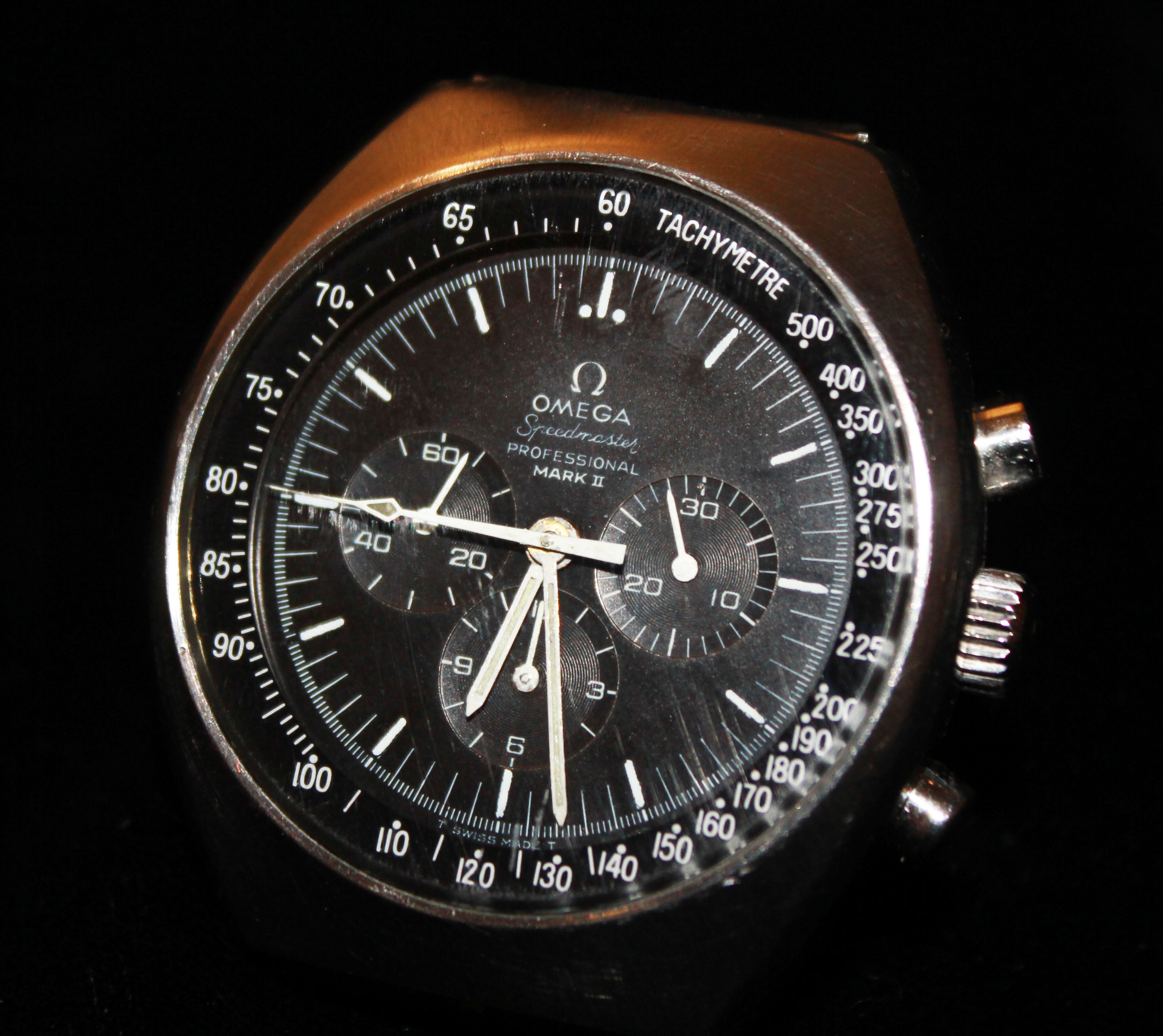 Lot 31 - OMEGA, SPEEDMASTER, PROFESSIONAL MARK 2, A VINTAGE STAINLESS STEEL GENT'S WRISTWATCH having a