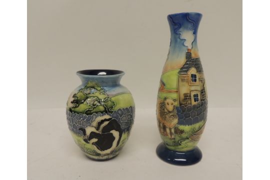 An Old Tupton Ware Vase Of Ovoid Form With Tubelined Decoration Of