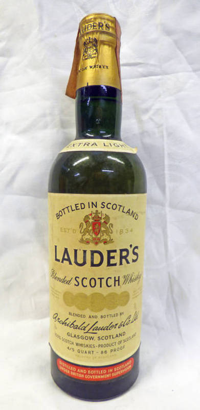 Lot 4080 - 1 BOTTLE LAUDER'S EXTRA LIGHT SCOTCH WHISKY,